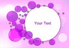 Purple circle frame Royalty Free Stock Photo