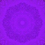 Purple Circle Lace Ornament Stock Images