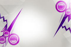 Purple circle and line, abstract background Stock Photography