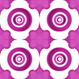Purple circles with flower shape pattern Royalty Free Stock Image