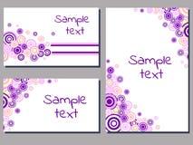 Purple circles Stock Photo