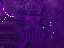Purple circuit board Royalty Free Stock Photography