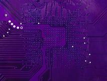 Purple circuit board royalty free stock photography