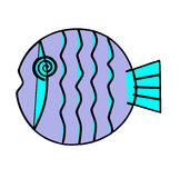 Purple circular fish Royalty Free Stock Photography
