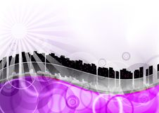 Purple city Royalty Free Stock Photos