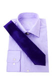 Purple classic shirt and neck tie Stock Photos