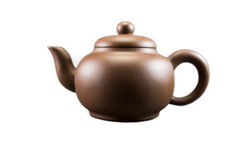 Purple Clay Teapot Stock Image