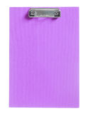 Purple clipboard isolated Royalty Free Stock Photo
