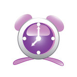 Purple clock Royalty Free Stock Photos