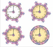 Purple clock Stock Photography