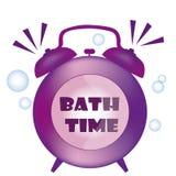 Purple clock Stock Image