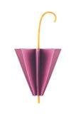 Purple closed umbrella of origami Stock Image