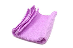Purple cloth for cleaning utensils Stock Image