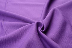 Purple cloth made by cotton fiber Royalty Free Stock Image