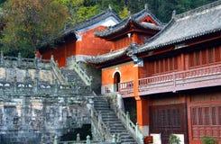 Purple Cloud Temple at Wudang Mountains, China stock photo