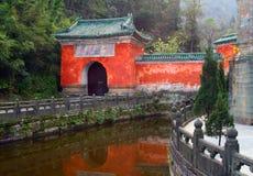 Purple Cloud Temple at Wudang Mountains, Hubei, China Royalty Free Stock Photo