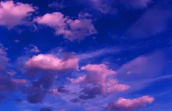 Purple clouds Royalty Free Stock Photography