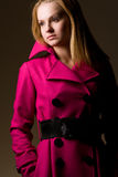Purple coat Stock Photo