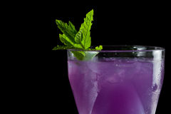 Purple cocktail royalty free stock photo
