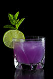 Purple cocktail Stock Photo