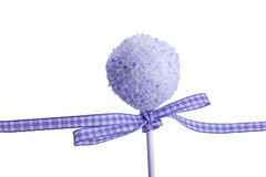 Purple cocunut cakepops Royalty Free Stock Images