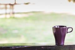 Purple coffee mug Royalty Free Stock Photos