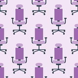 Purple color armchair modern designer chair background textile furniture seamless pattern comfortable vector Royalty Free Stock Photo