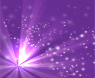 A purple color design with a burst and rays Stock Image