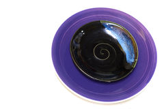 Purple color dish Stock Photography