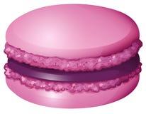 Purple color macaron alone. Illustration Stock Photography