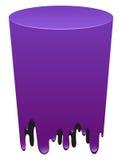 Purple color melting tube Royalty Free Stock Image