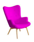 Purple color modern chair isolated Stock Image
