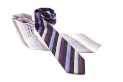 Purple color neckties Royalty Free Stock Photography
