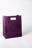 Purple color paper bags isolated on white. Stock Images