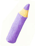 Purple color pencil Royalty Free Stock Image