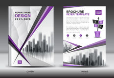 Purple Color Scheme with City Background Business Book Cover Royalty Free Stock Photo
