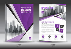 Purple Color Scheme with City Background Business Book Cover vector illustration