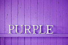 Purple Color Word Background Stock Photos