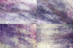 Purple colored grunge texture backgrounds Stock Image