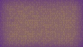 Purple colored old paper background with animation of yellow circles signs. 3d rendering. 4K, Ultra HD resolution royalty free illustration