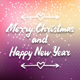 Purple colorful Christmas card Royalty Free Stock Photos