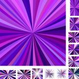 Purple colorful ray burst background set Royalty Free Stock Photography