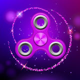 Purple colorful spinner on an abstract background. Purple colorful spinner on an abstract background with purple luminous backdrop. Abstract background with Royalty Free Stock Images