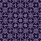 Purple Colors Flower and Plant Pattern Design. Royalty Free Stock Photo