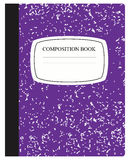 Purple Composition Book Royalty Free Stock Images