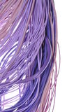 Purple computer cab. Bundles of purple computer cables isolated on white background Royalty Free Stock Photo
