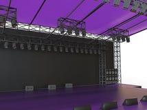 Purple concert stage closeup Stock Image