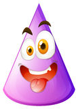 Purple cone with silly face Stock Photo