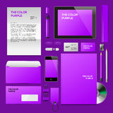Purple Corporate ID mockup Stock Photos