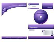 Purple corporate identity Royalty Free Stock Photos